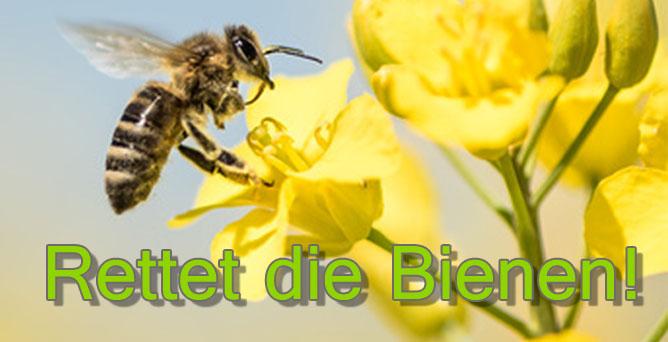 Werbemittel-Aktion zur Rettung der Bienen